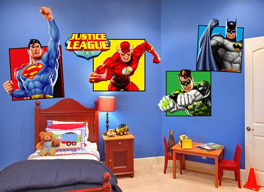 4 Justice League Wall Decals
