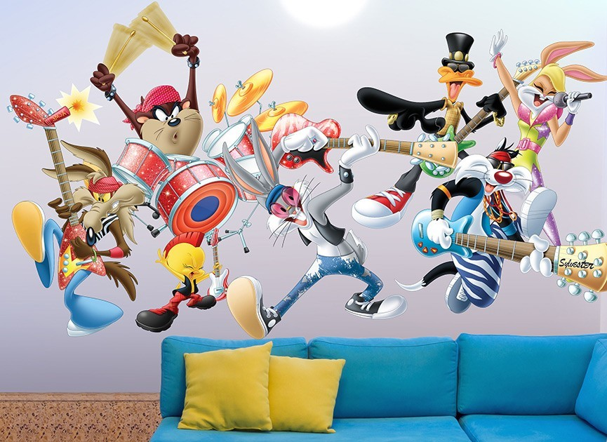 Looney Tunes Rock Band Wall Decals