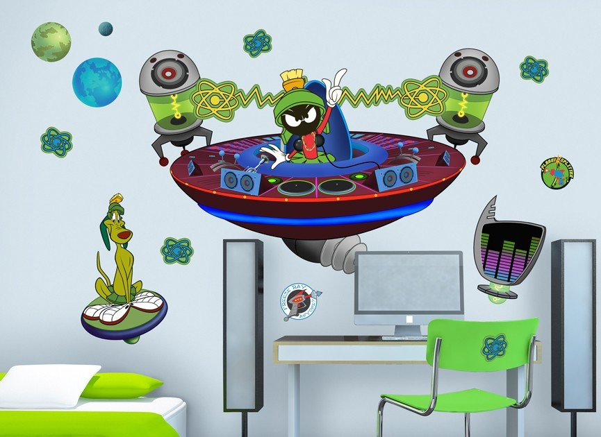 Marvin the Martian DJ Wall Decal