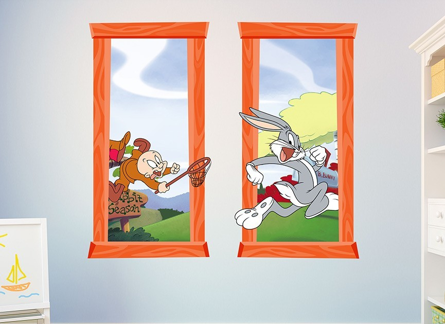 Bugs Bunny Window Wall Decals