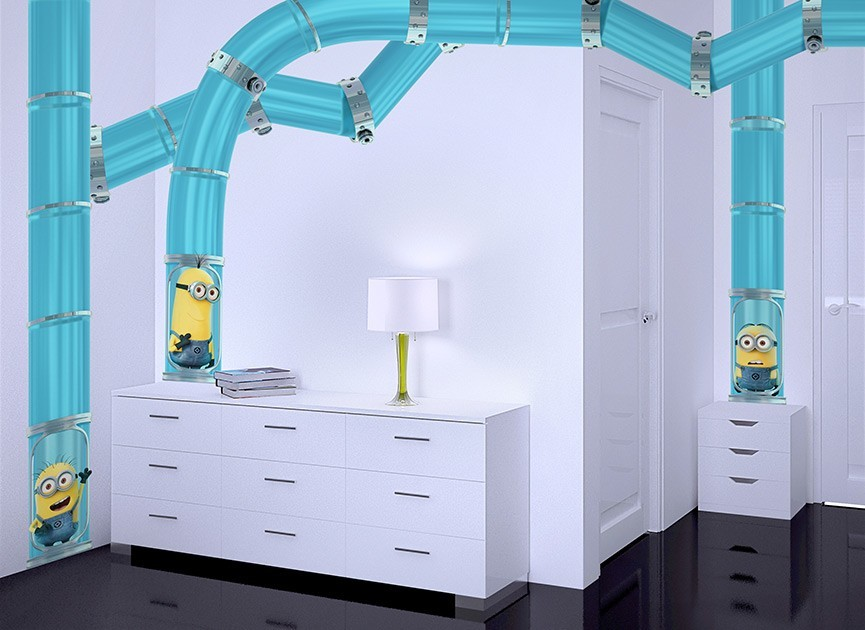 Minions Travel Tubes DIY Wall Decals