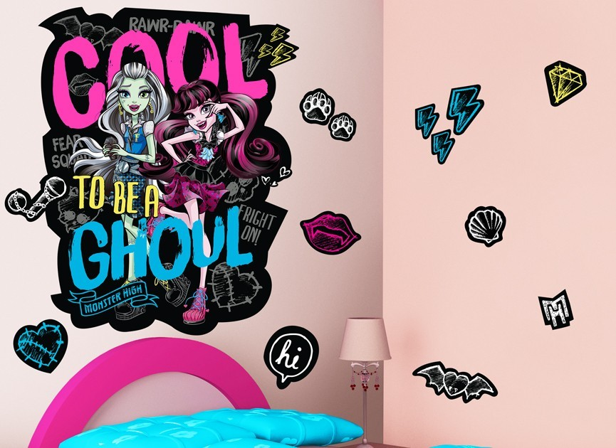 Monster High Be A Ghoul Wall Decal Set