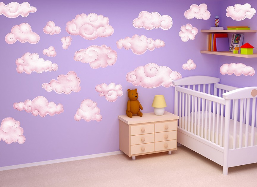 Captivating Pink Cloud Wall Decals