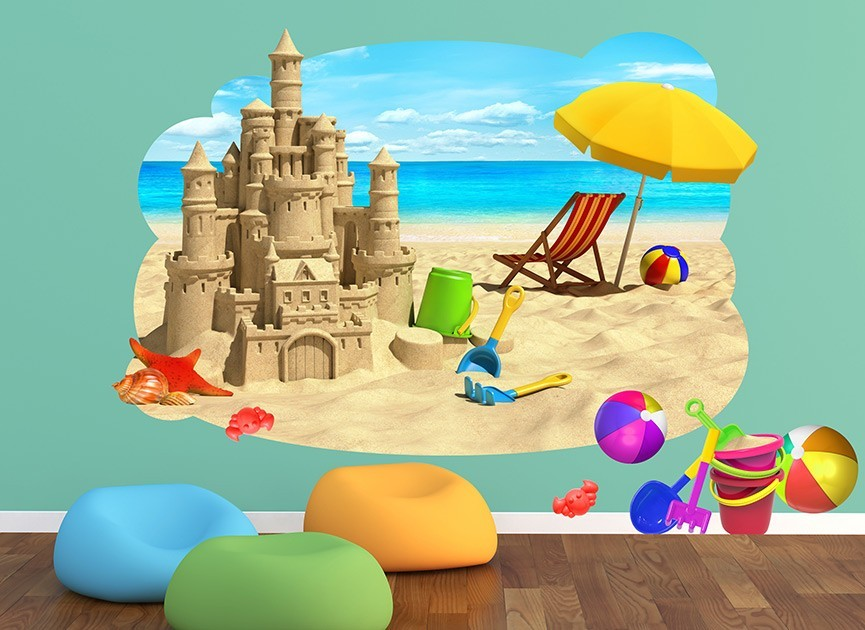 Sand Castle Wall Decal