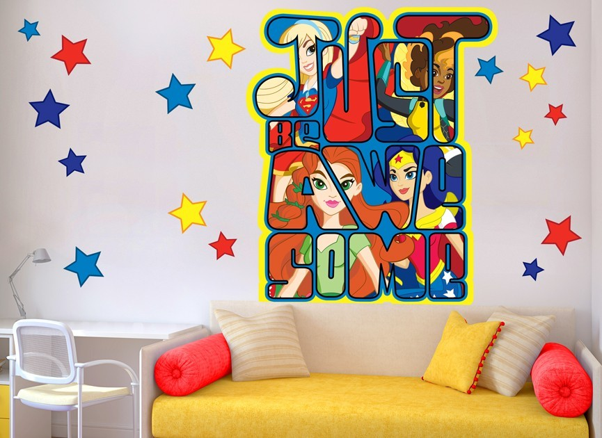 DC Super Hero Girls Awesome Decal Set