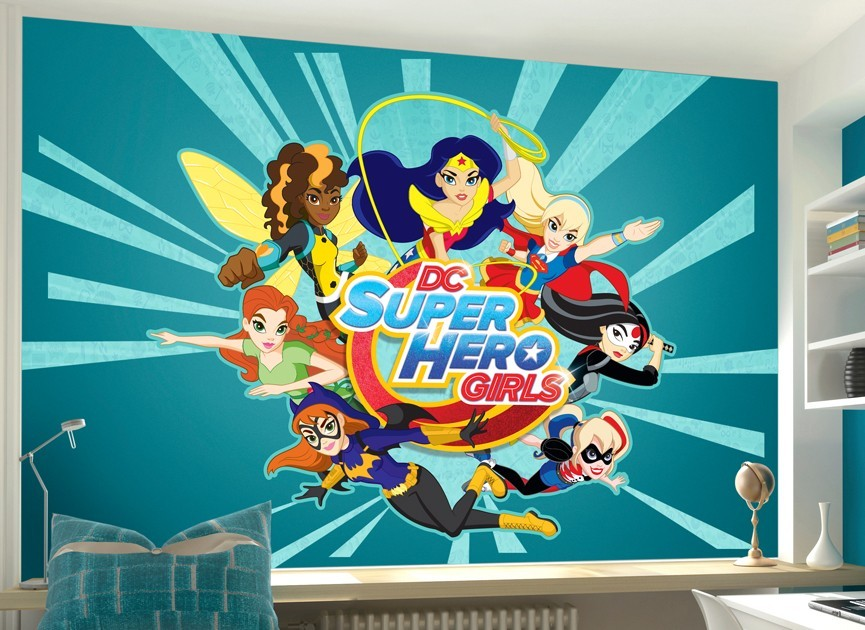 DC Super Hero Girls Character Wall Decal - Superhero wall decals for girls