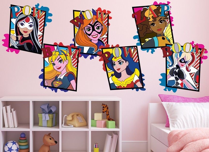 DC Super Hero Girls Character Wall Decal 4