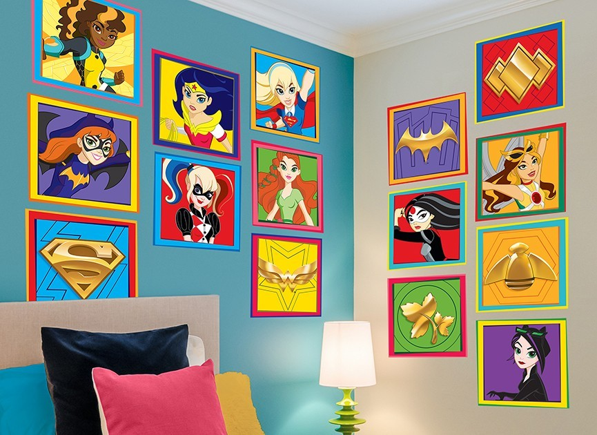 marvel bedroom decor dc character wall decal 5 12219