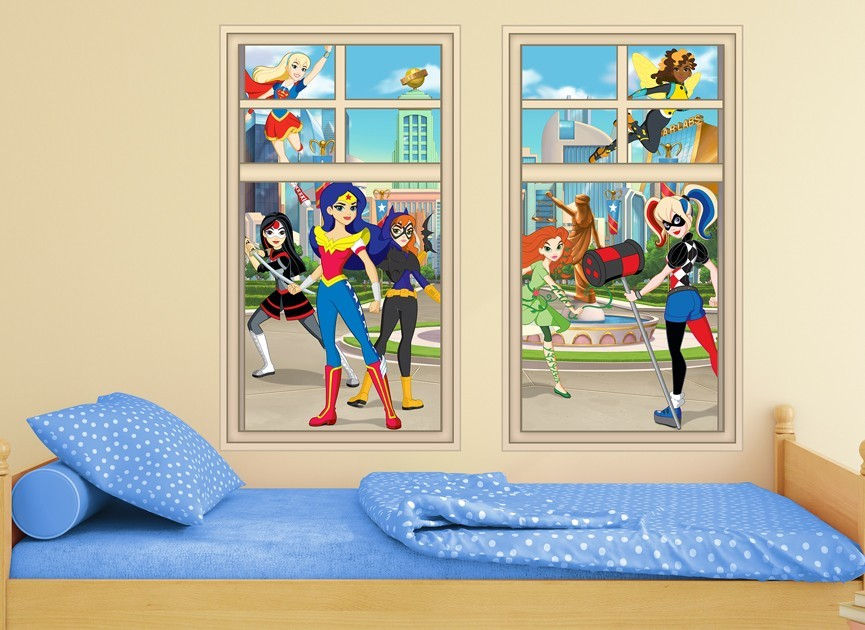 DC Super Hero Girls Window Wall Decal   Girl Superhero Wall Decals