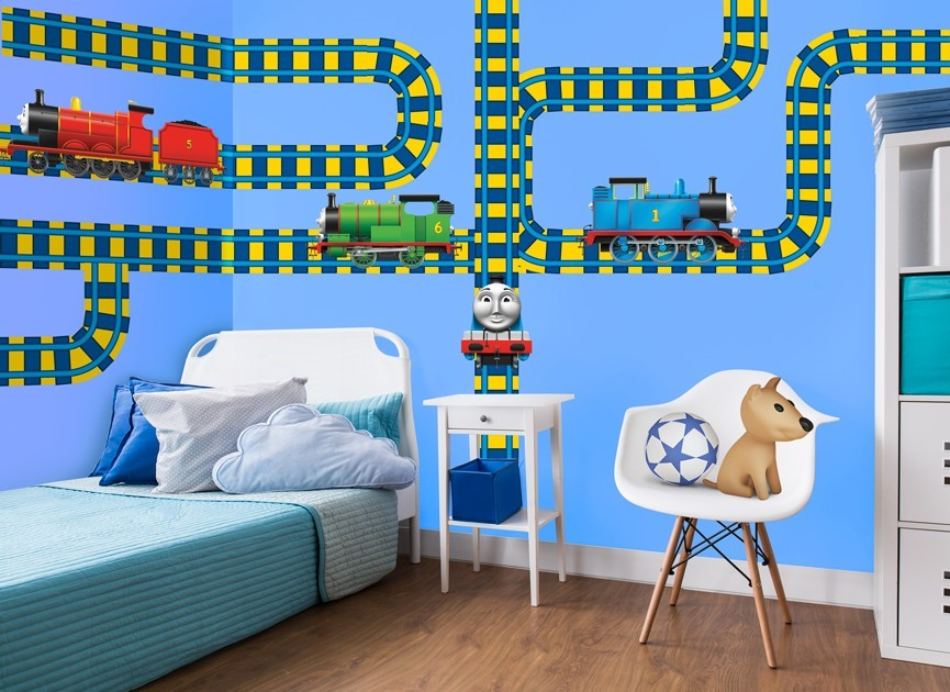 Wonderful Thomas And Friends Train Tracks Wall Decal