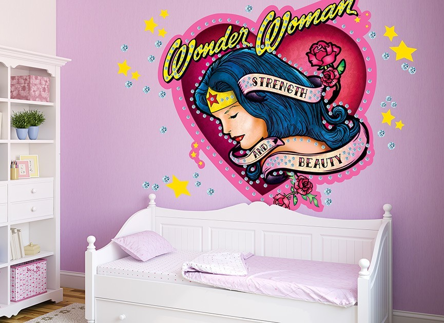 Wonder Woman Diamond Patch Wall Decal