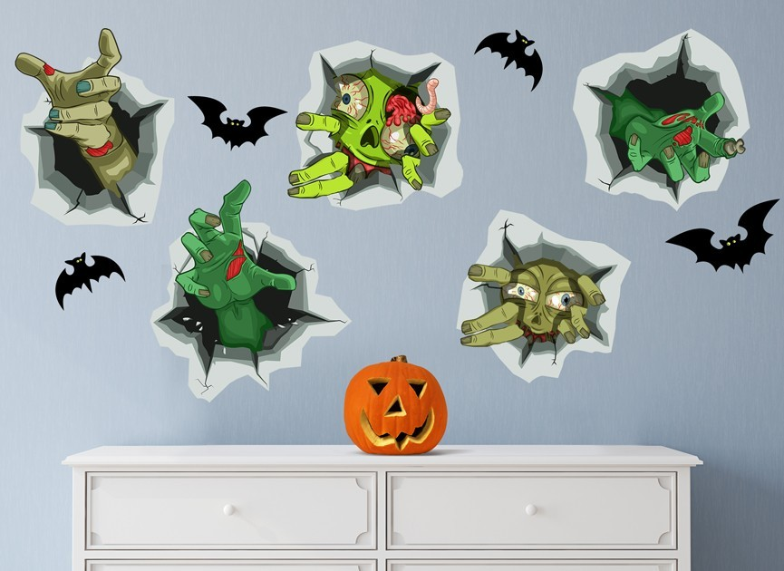 Zombie Home Invasion Wall Decal Set