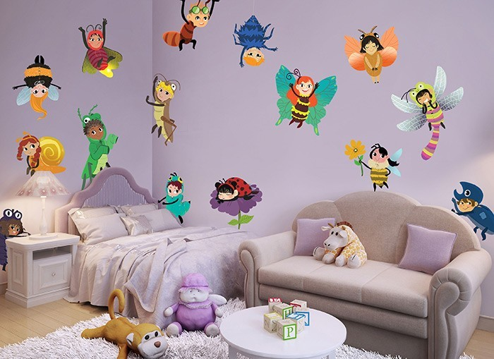 & Bug Friends Wall Decal