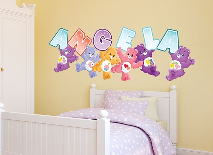 Care bears customizable wall decals for Care bears wall mural