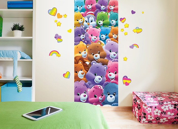 Care bears and friends wall decal for Care bears wall mural