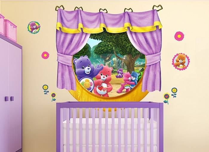 Care bears harmony window wall decals for Care bears wall mural