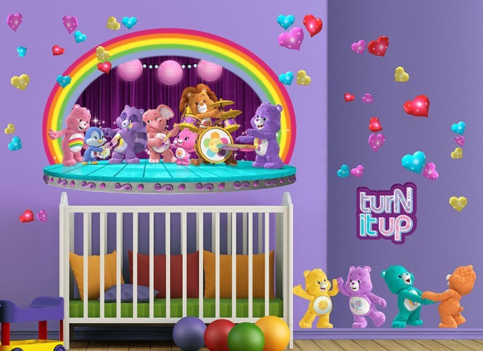 Care bears rock band wall decals for Care bears wall mural