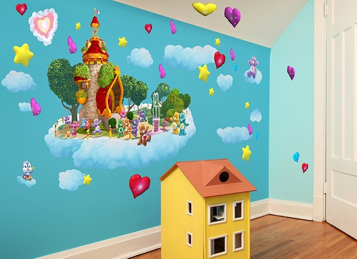 Care bears lighthouse wall decal set for Care bears wall mural