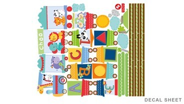 Fisher Price ABC Train Wall Decals Set