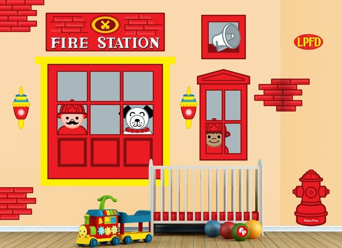 Fisher Price Fire Station Window Wall