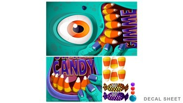 sc 1 st  Wall-Ah! & Candy Zombie Wall or Door Decal