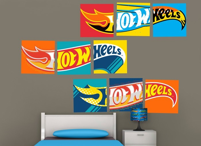 Hot Wheels Cars Logos Wall Decal Set