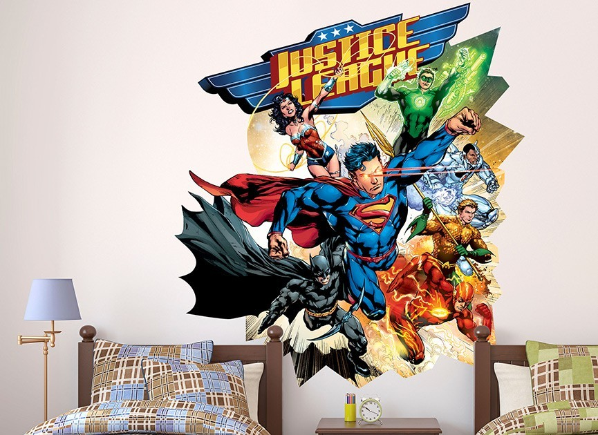 Justice League Wall Decor Techieblogieinfo