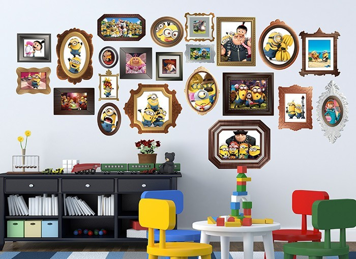 Minions Gru Family Frame Wall Decals - Wall decals picture frames