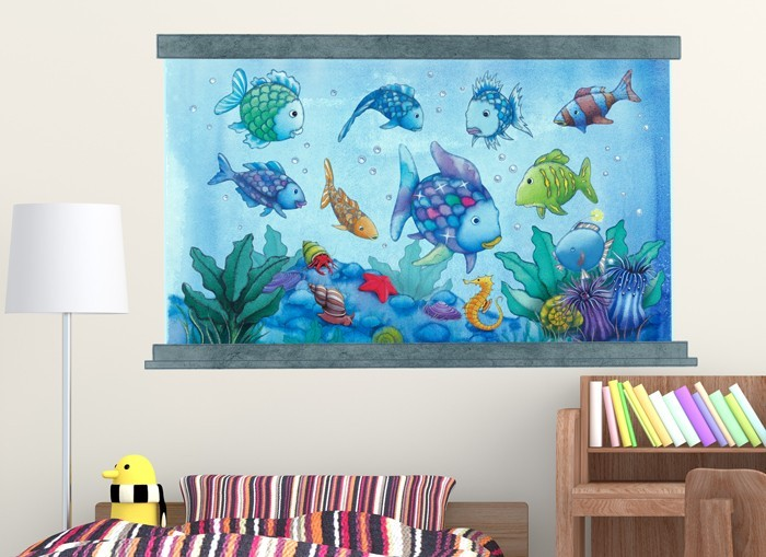 sc 1 st  Wall-Ah! & Rainbow Fish Aquarium Wall Decal