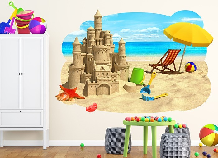 Sandcastle Wall Decal