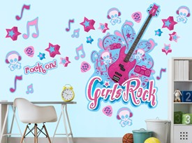 Guitar Stars Music Rock Wall Decal Set