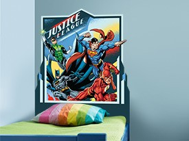 Justice League Headboard Wall Decal