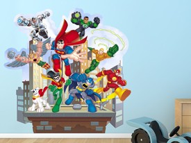 DC Super Friends Action 2 Wall Decals