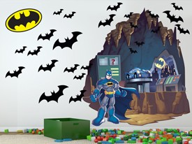 DC Super Friends Batman Batcave Wall Decals