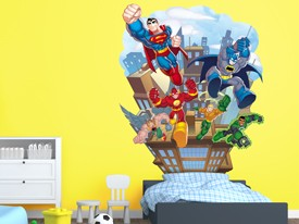 DC Super Friends Headboard Wall Decal