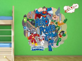 DC Super Friends Hero Wall Decals