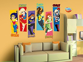 Shop Now; DC Super Hero Girls Motivational Wall Decals