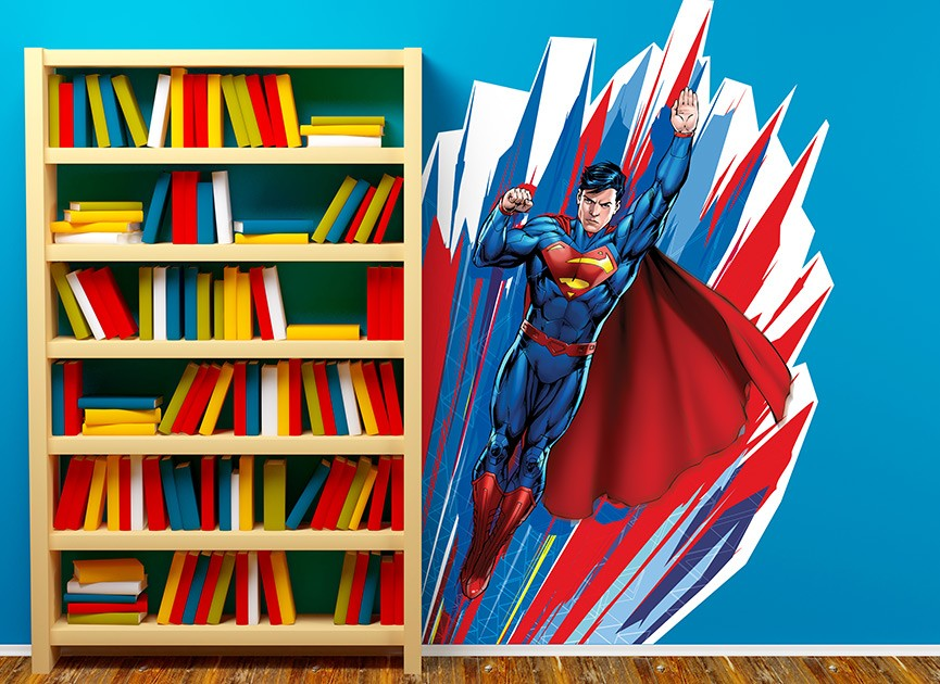Superman Graphic Burst Wall Decal