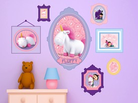 Fluffy The Unicorn Wall Decals