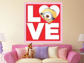 Minions Valentine Love Wall Decal 2