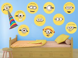 Minions Yellow Circle Wall Decal Set