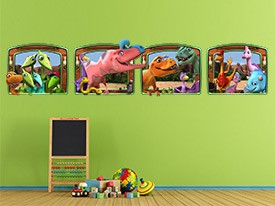 Dinosaur Train Window Wall Decals