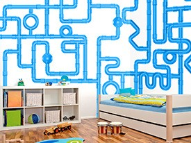 Construction Pipe Wall Decal Set
