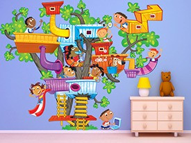 Tree House Wall Decal Set
