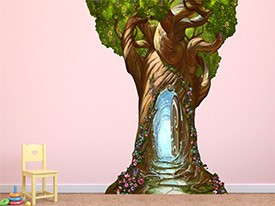 Enchanted Tree Door Wall Decal