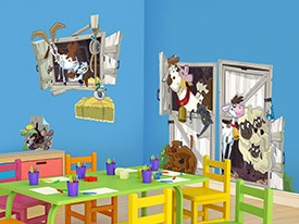 Extra Farm Animal Wall Decals