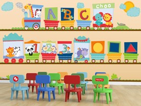Fisher-Price ABC Train Wall Decals Set