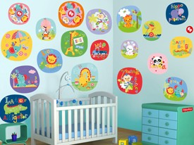 Fisher-Price Animal Circle Wall Decal Set