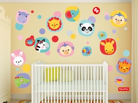 Fisher-Price Zoo Animal Wall Decal Set