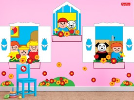 Fisher-Price Window Wall Decal Set